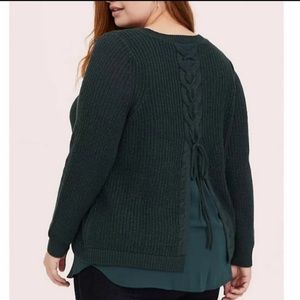 Torrid Lace Up Sweater (Size 0)
